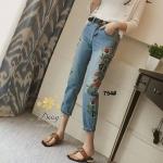 กางเกงยีนส์ทรงเดฟ ผ้ายีนส์ฮ่องกง รุ่นขายาวผลิตมาไซส์ใหญ่ ให้คนสะโพกใหญ่ที่หายีนส์สวยๆใส่ยากค่ะ