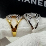 Chanel Ring งานเพชรสวิส 2 ชั้น ตัวเรือนชุบ 5 ไมครอนหน้าโลโก้เพชร 2 ชั้นอย่างดี งานเกรดจิวรี่