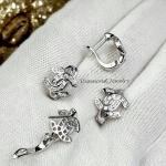 Chanel Earrings เพชรสวิสอย่างดี ดีไซส์สวย ใช้แม่พิมจากร้านเพชร ทอง 5 ไมครอน ไม่ลอกไม่ดำ