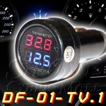 DF-01-TV.1 Car Digital Volt-meter & Room Thermometer