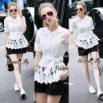 Lady Ribbon Online เสื้อผ้าออนไลน์ขายส่ง Normal Ally เสื้อผ้า NA16150816 &#x1F389Normal Ally Present elegant premium shirt and boutique pant&#x1F389 (เสื้อ + กางเกง+ เชือกคาดเอว, มีซับในอย่างดีทั้งชุด)