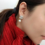 Chanel Earring ต่างหูชาแนลมุกตัว standard งานเพชรปาเกตละเอียดสวยหรู