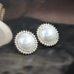 C298 - ต่างหูแฟชั่น ต่างหูหนีบ ต่างหูเกาหลี ตุ้มหูแฟชั่น ตุ้มหู ต่างหู เครื่องประดับ super flash pearl earrings shell beads earrings