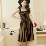 เสื้อผ้าแฟชั่นเกาหลีCliona Cool Strip Dress - Long dress สายเดี่ยว