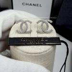 Chanel Earring เพชร CZ แท้ ฝังไมโครเซตติ้ง เกรดจิวเวอรี่ เพชร CZ แท้ ตัวเรือนสีเงินชุบ 18KGP ไม่ลอกไม่ดำ
