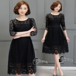 Cliona made'Sensuality Black Lace Dress