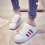 รองเท้าผ้าใบทรง Adidas แบบผูกเชือกแฟชั่นชุดออกกำลังกายตอนนี้อินแทรนด์มากคะ ใส่เที่ยวหรือจะใส่ไปยิมก็ได้เกร๋มากนะคะ มา1สี