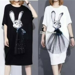 ผ้าเนื้อนุ่มหนา ดีไซน์เกร๋ด้วยทำรูปน้องกระต่ายใช่ชุดเปนแบบ 3D งานดี ห้ามพลาดนะคะ