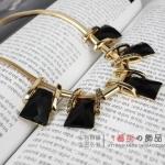 AG1711 - สร้อยหิน สร้อยคอ สร้อยหินนำโชค เครื่องประดับ big geometric necklace collarbone chain