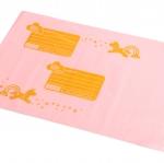 สีชมพูจ่าหน้าซอง ซองไปรษณีย์พลาสติก ขนาด 25x31+4 cm