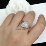 Diamond Ring งานเพชรสวิส ดีไซส์หัวใจเพชร ตัวเรือนชุบ 5 ไมครอน เกรดจิวรี่ ไม่ลอกไม่ดำ