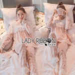 Lady Emma Pretty Pastel Check Ruffle Pajamas Ribbon