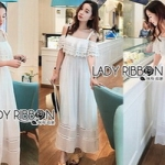 Lady Ribbon Maxi Dress เดรสยาว