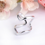 AX2442 - แหวนเพชร,แหวนเงิน,แหวน,แหวนคู่รัก,เครื่องประดับ Hot generous heart-shaped bicyclic ring