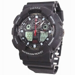 OHSEN – AD1012-1: World-Time Dual System Alarm / Chronograph Sports Watch