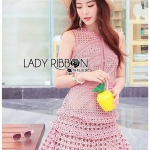 Mini Dress Lady Ribbon ขายมินิเดรส
