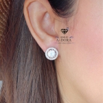 Dora Brand Luxury White AAA+ CZ Diamond Stud Earring