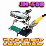 JM-508 WORK JIG WITH MAGNIFIER & SOLDER GUN HOLDER