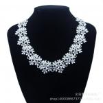 y1480 - สร้อยคอแฟชั่น,สร้อยคอ,สร้อยแฟชั่น,เครื่องประดับ retro jewelry inlaid crystal necklace