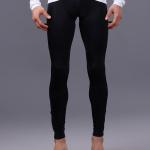 กางเกงปั่นขายาวผู้ชาย Cheji แถบดำ