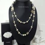 Chanel Necklace งานมุก 2 ชั้น สีทูโทนสวยงาม มุกเคลือบ 7 ชั้นอย่างดี
