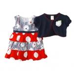 เสื้อผ้าเด็กขายส่ง ชุด 2 ชิ้น ชุดกระโปรง พร้อมเสื้อคลุมผ้าคอตตอนเนื้อนุ่ม สวยน่ารัก Size 3/6, 6/9, 9/12 เดือน