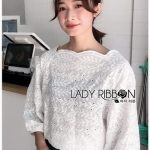 Cotton Blouse Lady Ribbon ขายผ้าคอตตอน