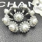Chanel Earring งานเพชรปาเก็ต ตัวเรือนสีเงินชุบ 18KGP ไม่ลอกไม่ดำ Made in Korea