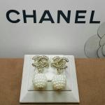 Chanel Earring ตัวเรือนมี 2 สี เงิน/ทอง ตัวเรือนสีชุบ 18KGP ไม่ลอกไม่ดำ