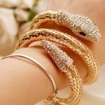 y1418 - สร้อยข้อมือ,กำไลข้อมือ,กำไล,สร้อยข้อมือทอง,กำไลทอง,เครื่องประดับ full diamond snake bracelet
