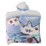 **MonOURS** GF036 Size 0-3, 3-6 เดือน Gift set 4 ชิ้น ประกอบด้วย ชุดหมีแขนยาว หมวก ผ้าห่ม ถุงเท้า และไม้แขวนบุนวมอย่างดี ขายส่ง ยกแพค 6 เซ็ท ครบไซส์