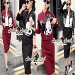 Seoul Secret Mickey Chic Jackskirt Set