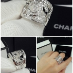 Chanel Ring งานเพชรสวิส หน้าโลโก้เพชรอย่างดี ตัวเรือนชุบ 5 ไมครอน