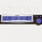 VST7043V Car Alarm Clock With In/Out Thermometer & Battery Monitor