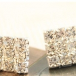N973 - ต่างหูเพชร ตุ้มหูเพชร ตุ้มหู ต่างหู ต่างหูระย้า เครื่องประดับ flash full diamond diamond earrings