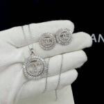Chanel Bracelet+earring เซตต่างหู+สร้อย งานเพชร CZ แท้