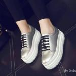 รองเท้าคัชชูหนังผูกเชือกส้นเตารีดทรงDr.Martensวัสดุอย่างดี ทน เบาใส่สบาย งานดีงานสวยวัสดุแบบผูกเชือกสวยเก๋