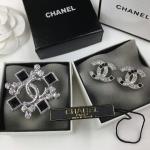 Chanel Brooch+Earring เพชรขาวดำงานคลาสสิค เพชรสวยลังการงานสร้าง