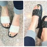 รองเท้าแตะเพื่อสุขภาพพื้นหล่อยางเข้ารูป หน้าคาคแต่งอะไหล่กากเพชรแน่นกลิตเตอร์หนางานดีพื้นยางอย่างดีน้ำหนักกำลังดี นิ่มน่าสวมใส่ ใส่ชิวได้ ใส่ลุ่ยน้ำลุ่ยฝนได้สบายเท้าสุดๆเลยค่า