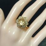 แหวนกังหันแชกงหมิว แหวนกังหันนำโชค ใส่เสริมสิริมงคล ตัวเรือนสีเงินงานชุบ 18KGP ไม่ลอกไม่ดำ