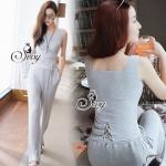 Lady Ribbon Online เสื้อผ้าแฟชั่นออนไลน์ขายส่ง เลดี้ริบบอนของแท้พร้อมส่ง sevy เสื้อผ้า SV13240716 BEST SELLER-Restock &#x1F389Sevy Two Pieces Of Casual Knit Vest With Pants Sets