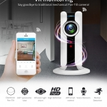 180 Degree Panoramic Fish Eye Lens IP Camera Wifi Wireless Night Veresion APP Remote Control Wireless P2P IP Webcam