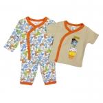 ขายส่งเสื้อผ้าเด็ก ชุดนอน 3 ชิ้น ปักลายยีราฟน่ารัก Size 3, 6, 9 เดือน
