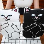 เคสซิลิโคน แมวดำ แมวขาว (เคส iPad Air 1)