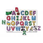 กระดานไม้ABC Melissa and doug See-inside Peg Puzzles - Alphabet