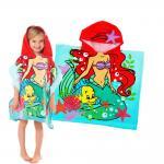 ผ้าคลุมว่ายน้ำสำหรับเด็กลาย Ariel hood towel [USA]