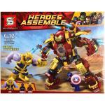 Super Heroes เลโก้จีน SY1108 ชุด Marvel Infinity War: Thanos VS Hulk Buster