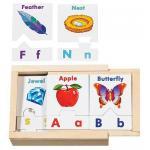 การ์ด ABC Melissa and doug Alphabet Sorting Puzzle Cards