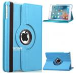 (สีฟ้า) เคสสีพื้นหมุนได้ 360 องศา (เคส iPad mini 4)