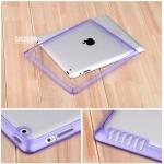 (สีม่วง) เคสกรอบใส หุ้มซิลิโคน (เคส iPad 2/3/4)